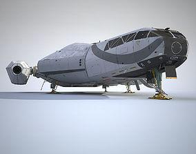 3D Sci-Fi Scout Spaceship