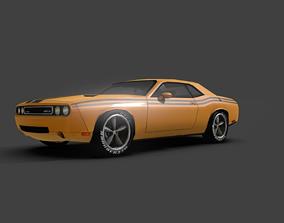 3D model Car Doodge doodge srt chalenger