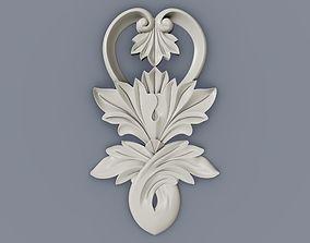 3D print model Baroque cartouches element 011 FLOWER