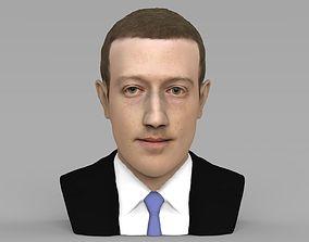 Mark Zuckerberg bust ready for full color 3D