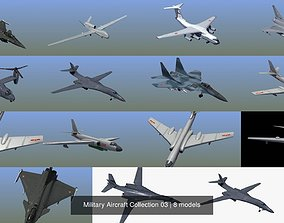 3D model Military Aircraft Collection 03