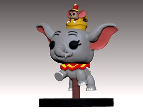 3D print model Dumbo PopFunko flying