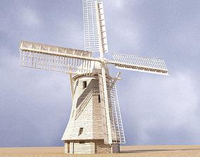 Windmill lowpoly 3D asset
