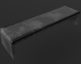 3D Concrete Skate Bench