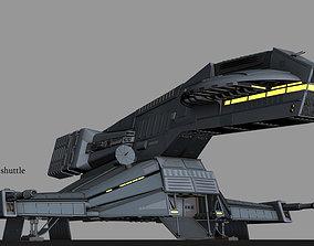 Herald class shuttle 3D animated