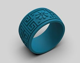 Design ring with an ornament 3D print model