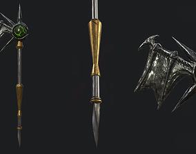 3D asset Fantasy Stylish- Staff of Demon Wing