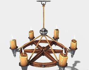 Stylized Chandelier 3D model