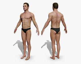 3D asset rigged Man body