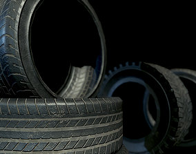 3D model Game-Ready Tires and Rims