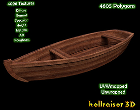 3D asset Rowing Boat - PBR - Textured