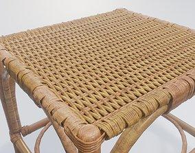 handmade weaved chair 3D rope