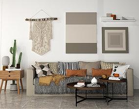 3D family sofa Living Room European Sofa Chair