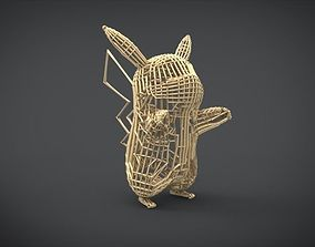 3D printable model Pikachu Wireframe