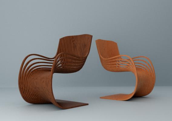 Oiled oak pipo chair