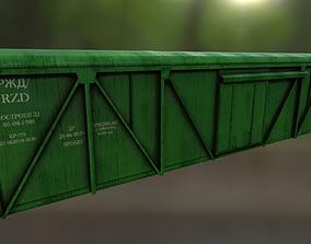 3D asset Railway car