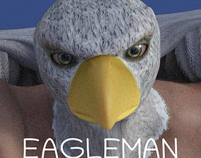 Eagleman for Genesis 8 Male 3D model animated