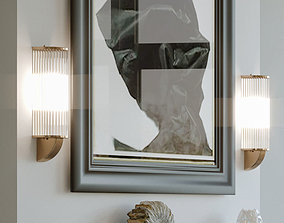 3D murano glass tube and brass sconce lampara