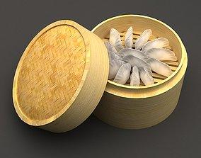 dumplings in kind steamed drawer food 3D model