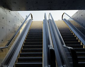 shopping-mall 3D escalators