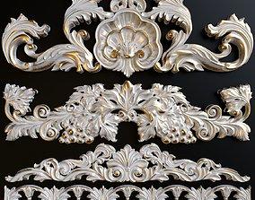 3D A set of decorative stucco