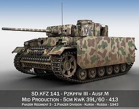 PzKpfw III - Panzer 3 - Ausf M - 413 3D model