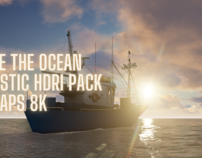 Above the ocean and cloud HDRI pack for realistic 3d Half