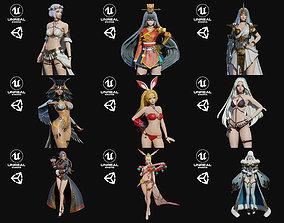 Girls Pack Bundle 5 female 3D