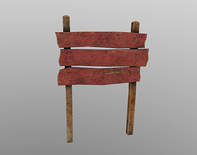 Wooden Notice Board 3D model realtime