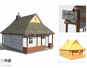 Barber House - Slav Architecture 3D asset