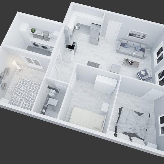 3D view Apartment