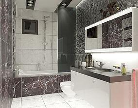 3D model Bathroom interior scene