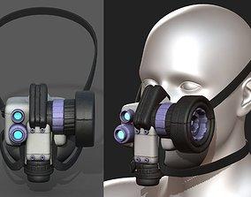 Gas mask scifi helmet futuristic technology 3D model
