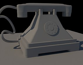3D model living-room Old Phone