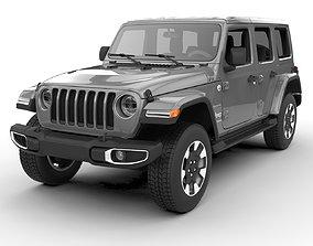 3D jeep Jeep Wrangler Unlimited Sahara 2018