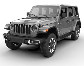 3D jeep Jeep Wrangler Unlimited Sahara 2018