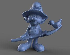 Farmer Smurf Toy 3D model