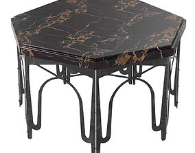 coffee table with marble top 3D