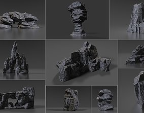 heigh Cliff Rock Collection 3D model