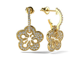 Copy of Blossom Pave earring 3D print model