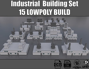 3D model realtime Industrial Buildings Collection