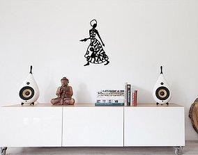 African woman wall art 3D print model