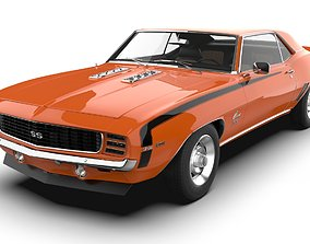 Chevrolet Camaro 1969 SS 3D asset