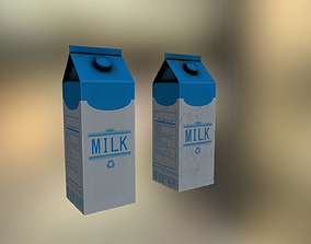 Milk carton 3D model game-ready