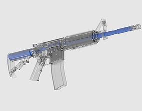 3D model Ar15M1 Fully Detailed