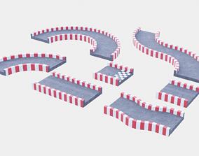 3D asset Racetrack Segments Collection