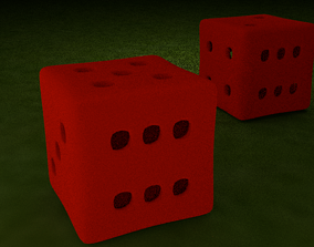 3D printable model Lucky Red Dice