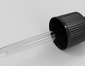 3D Black Bulb Glass Dropper