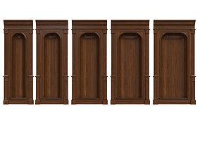3D model Wood panel niche 020