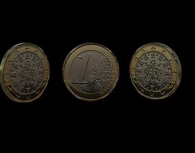 1 Euro Coin - Portugal 3D asset